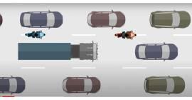 Circulation inter-files des 2 roues : de nouveau autorisée dès août 2021